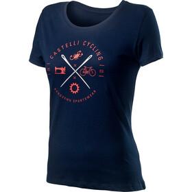 Castelli Sarta Camiseta Mujer, dark infinity blue